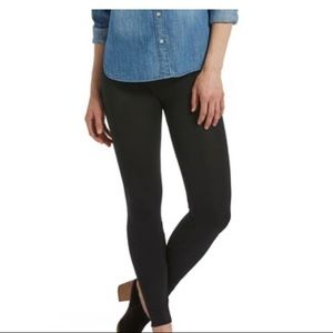 HUE Brushed Seamless Leggings Black Sz L/XL